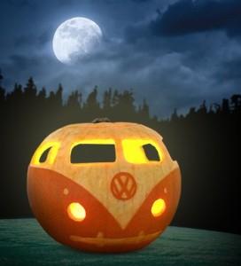 VW campervan pumpkin