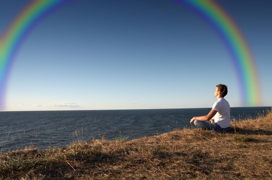 Meditation With Rainbow