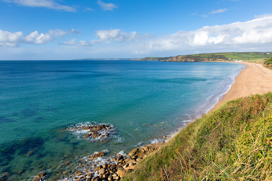 Pra Sands Cornwall England near Penzance and Mullion on the Sout