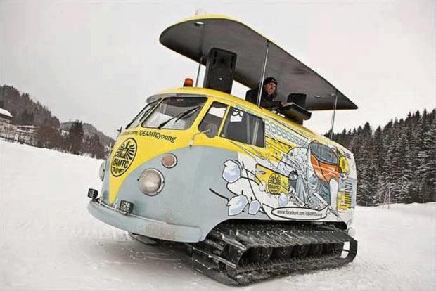 Snowtracks VW Campervan on the Slopes