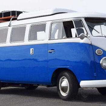 3 blue campervan